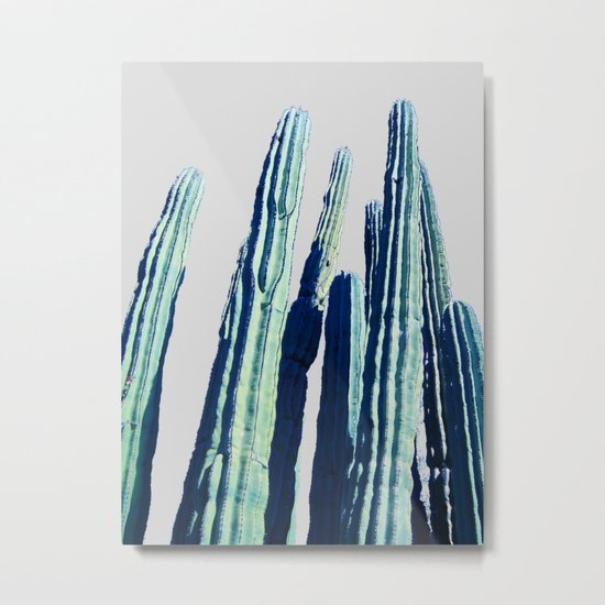 Cactus #society6 Decor #fashion #lifetsyle Metal Print