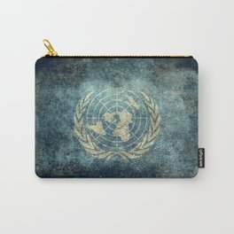 United Nations Flag - Vintage grungy Carry-All Pouch