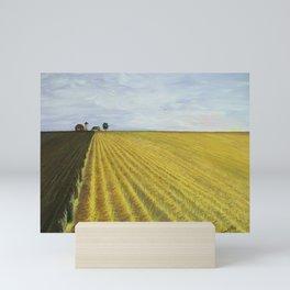 Alone, Farm, Acrylic on Canvas Mini Art Print