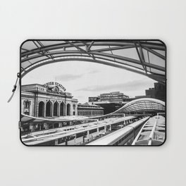 Union Station // Train Travel Downtown Denver Colorado Black and White City Photography Laptop Sleeve