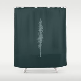 Love in the forest - green Shower Curtain