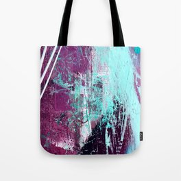 01012: a vibrant abstract piece in teal and ultraviolet Tote Bag