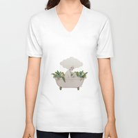 hydra V-neck T-shirts featuring Hydra by Sofia Bonati