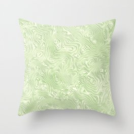 Lime Green Silk Moire Pattern Throw Pillow