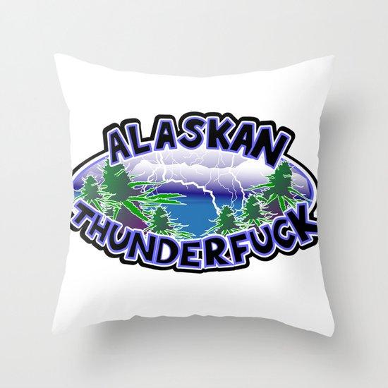 Alaskan Thunderfuck Throw Pillow
