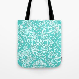 Isola Signature Print Aqua Tote Bag