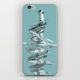 Graphic Art SIGNPOST   turquoise iPhone Skin