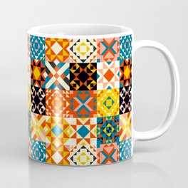 Maroccan tiles pattern with red an blue no2 Coffee Mug