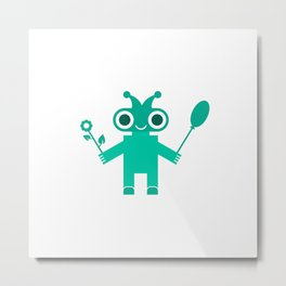Romantic Robot #society6 #decor #buyart #artprint Metal Print
