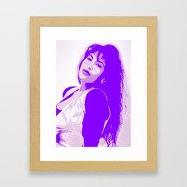 SelenaQuintanilla Queen of Tejano Como la Flor Bidi Bidi bom bom PURPLE Framed Art Print