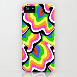 Hippie pattern in rainbow colors iPhone Case