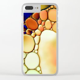 """""""Stained Glass Orbs"""" - Oil and Water Clear iPhone Case"""