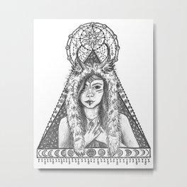 Her Gratitude Metal Print