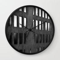metal Wall Clocks featuring Metal by CarienMoore