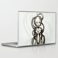 carnage Laptop & iPad Skins featuring The Flower of Carnage by Giulio Rossi