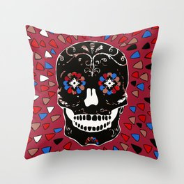 SKULL NO CRY. Throw Pillow