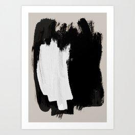 Abstract Brush Strokes 16 Art Print