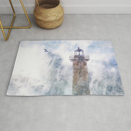 Storm in the lighthouse Rug