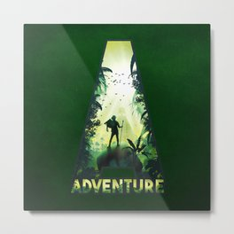 A for Adventure Metal Print