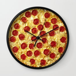 Who Wants Pizza? Wall Clock