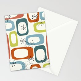 Mid Century Modern Shapes 1950s colors  Stationery Cards