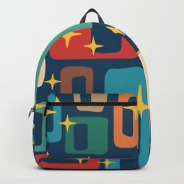 Retro Mid Century Modern Abstract Pattern 221 Backpack