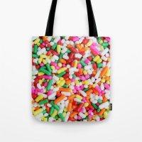sprinkles Tote Bags featuring Sprinkles by Beastie Toyz
