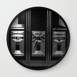 Mailboxes Black and White Original Photo Wall Clock