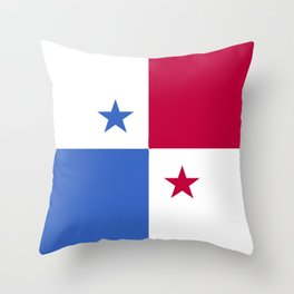 Panama flag emblem Throw Pillow