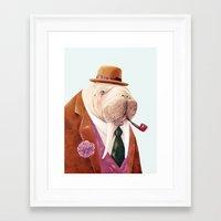 walrus Framed Art Prints featuring Walrus by Animal Crew