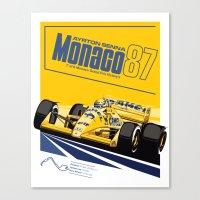 senna Canvas Prints featuring Ayrton Senna 1987 by Sean Kane Design
