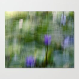 Tropical Impressionism (Purple Water Lily) Canvas Print