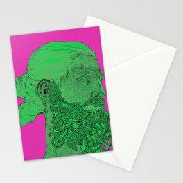 Hipster Neptune - Seaweed Stationery Cards