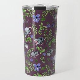Opossum, Fern, & Violet Print Travel Mug