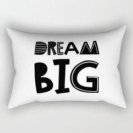 Dream Big  Scandinavian Font Rectangular Pillow
