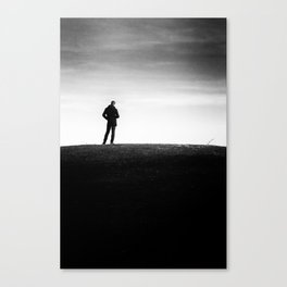 The longing | Posing on the hill Canvas Print