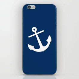 Navy Blue Anchor iPhone Skin