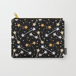 Night sky with gold silver stars Carry-All Pouch