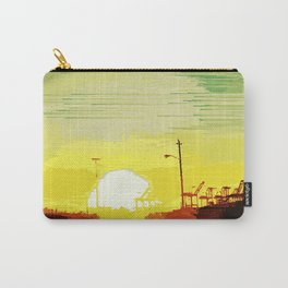 Sunset Over The Shipyard Pixelart Carry-All Pouch