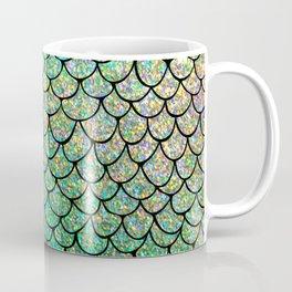 Colorful Glitter Mermaid Scales II Coffee Mug