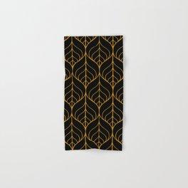 Black and Gold Hand & Bath Towel