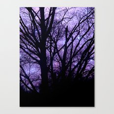 Purple Starry  Halloween Canvas Print