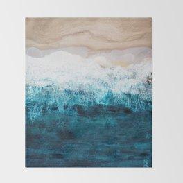 Watercolour Summer beach III Throw Blanket