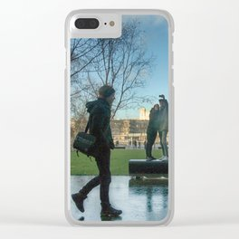 Walk On By London Clear iPhone Case