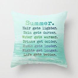 SUMMER by Monika Strigel Throw Pillow