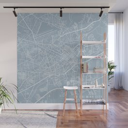 Ho Chi Minh City Map, Vietnam - Slate Wall Mural