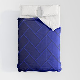Herringbone Gradient Dark Blue Comforters