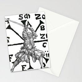 VomTag. Medieval Renaissance Swordsman Stationery Cards