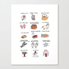These Are a Few of My Favorite Things Canvas Print