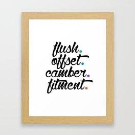 flush offset camber fitment v5 HQvector Framed Art Print